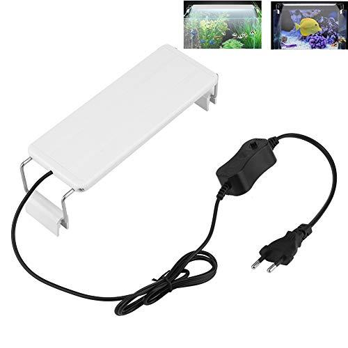 Riuty LED-Aquarium-Licht, Mini LED-weißes Licht Fisch Clip-On Aquarium Lampe für Zuhause