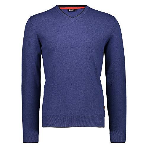 CMP Pullover Knitted in Lana con Scollo a V, Maglioni Tricot Uomo, Blu Marine, 50