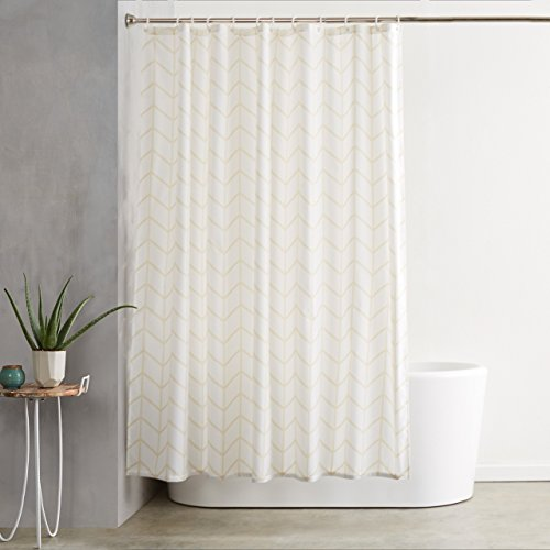 AmazonBasics Mold and Mildew Resistant Shower Curtain with...
