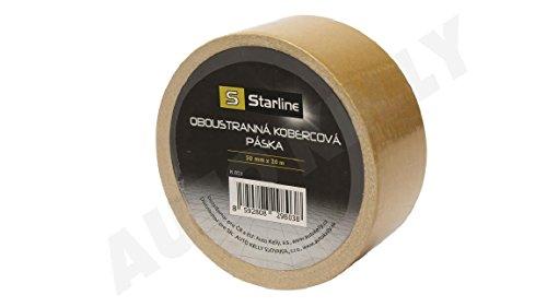 Starline tapijttape, dubbelzijdig, geschikt voor alle soorten vloerbedekkingen zoals tapijten en PVC, lengte 20 m