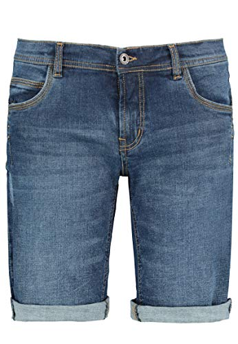 Sublevel Damen Jeans Bermuda-Shorts mit Nietendetails Middle-Blue L