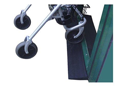 Faba Care Schwellenrampe Gummi, Rollstuhlrampe, Türschwellenrampe, schwarz, 12 mm x 110 mm x 900 mm, Schwellenhöhe 1,2 cm