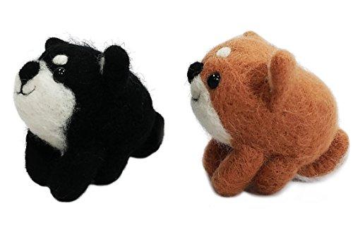 japan import Hamanaka wool felt kit Shiba Inu /& Shih Tzu H441-341