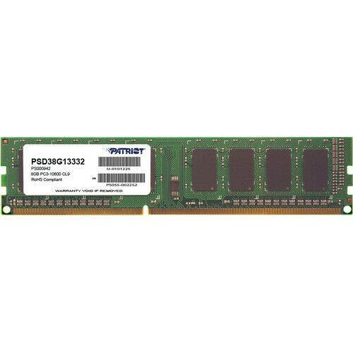 Patriot Memory Serie Signature Memoria Singola DDR3 1333 MHz PC3-10600 8GB (1x8GB) C9 - PSD38G13332