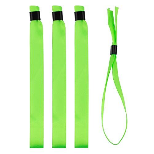 Juego de pulsera en tela / cinta de raso, con cierres de plástico - 10 colores disponibles (verde claro, 20)