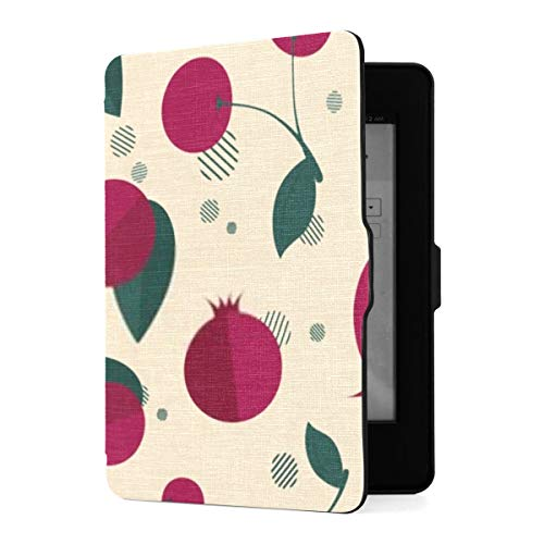 Kindle Paperwhite 1 2 3 Hülle, Vector Seamless Pattern Icons Granatapfel Kirsche Pu...