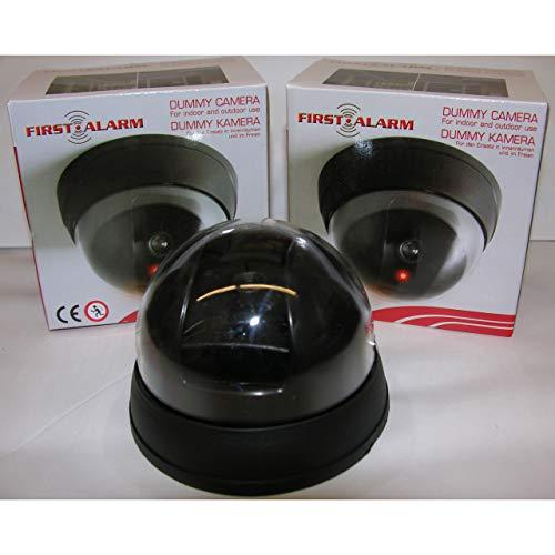 First 2X Dummy Überwachungskamera Video Kamera Wireless Attrappe in-/Outdoor LED