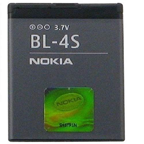 Nokia BL-4S Ión de litio 860mAh 3.7V batería recargable - Batería/Pila recargable (Ión de litio, 860 mAh, 3,7 V, Gris, Nokia 2680 slide / 3600 slide / 3710 fold / 7020 / 7100 Supernova / 7610 Supernova)