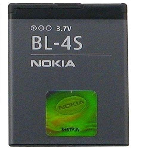 Nokia BL-4S Lithium-Ion (Li-Ion) 860mAh 3.7V Rechargeable Battery–Rechargeable Batteries (Lithium-Ion (Li-Ion), 860mAh, 3.7V, Grey, Nokia 2680slide/3600slide/3710fold/7020/7100Supernova/7610Supernova)