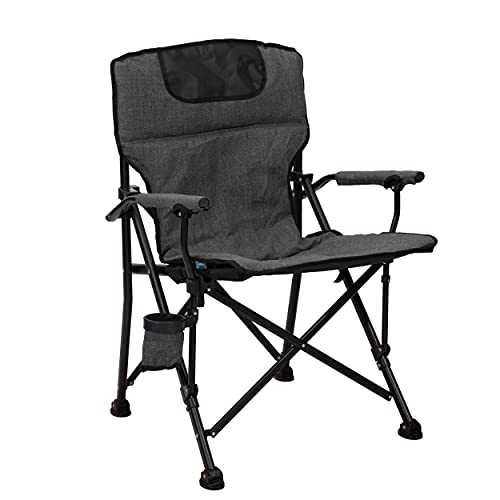 Homecall - Silla de camping, estándar, plegable acolchada (gris) ⭐