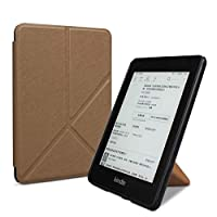 電子書籍のケース 折りたたみスタンドのPUレザースマート保護カバー、自動スリープ/航跡機能付きのKindle Paper DP75SDIに適しています。 (Color : Brown, Size : For DP75SDI)