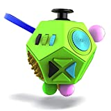 Vintage? Fidget 12-Side Fidget Cube Relieves Stress and Anxiety Anti Depression Cube for Children and Adults with ADHD ADD OCD Autism (B1 Green) -
