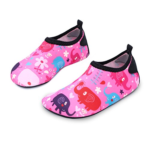 L-RUN Children's Walking Shoes Multifunctional Barefoot Pink_red 12.5-13=EU 30-31