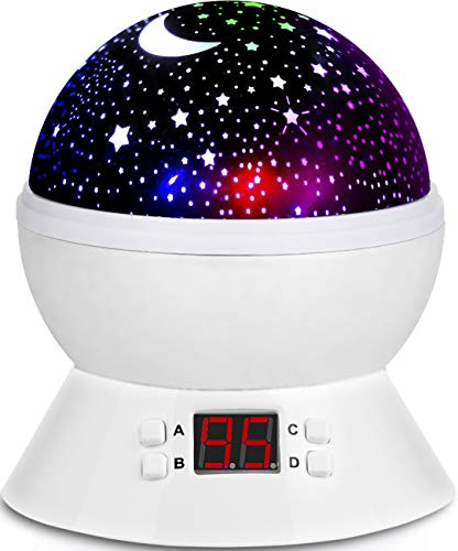 Starry Sky Lamp Sets with 2 Lampshades, Star Sky Light Projector Glow in The Dark Stars Birthday Gifts for 3 4 5 6-12 Year Old Girls Boys Christmas Gifts for Kids Starry Night Light Projector