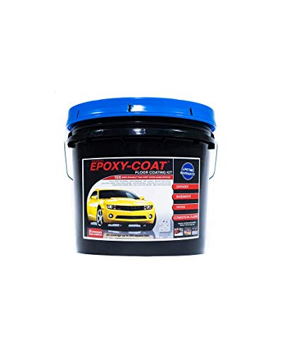 Epoxy Floor Kit - Epoxy-Coat Half Kit Gray- up to 250 sq.ft. at 9.7 mils - for Garage Floors, Basement Floors, Concrete, and More