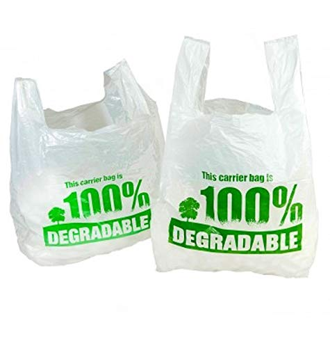 """plastique Retail emporter tout Qté White Vest Carrier Bags 11x17x21/"""" 280x410x510mm"""