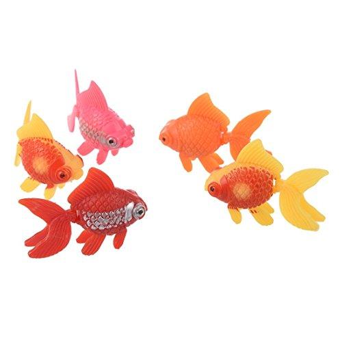 SODIAL(R) 5 Stk. Kunststoff kuenstliche Fisch Zierde fuer Aquarium