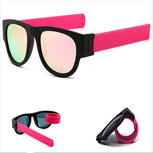 HFSKJWI Gafas De Sol Plegables De Pulsera Unisex,Proteción Total UV400,para Conducir,Viajes,Playa,Montaña,Deporte,Fiestas