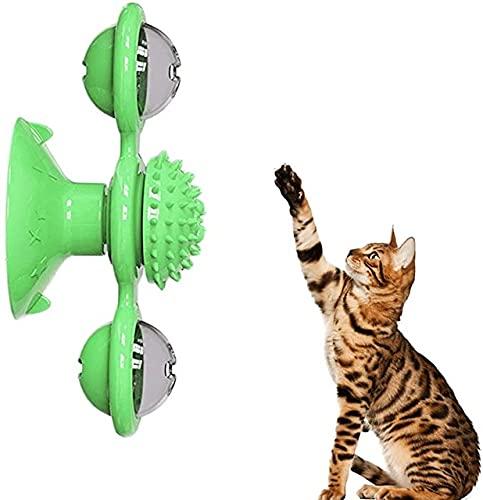 Crea Teeth Play- Gioco per Gatti, Divertente, promuove la Salute Dentale e fornisce Esercizio. con Un coloratissimo Gioco a Molle in Omaggio! (Verde)