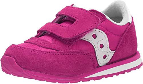 Saucony Girls' Baby Jazz Hook & Loop Sneaker, Pink