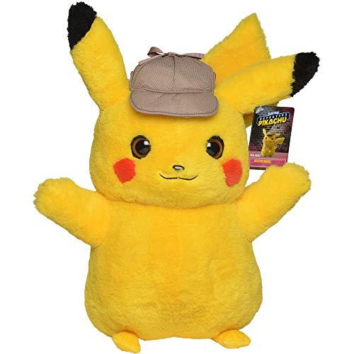 Lively Moments XL Pokemon Plüschtier großes Pikachu ca. 40 cm Meisterdetektiv Pikachu / Kinofilm Kuscheltier / Plüschfigur / Spielzeug
