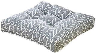 Cojines de silla de 10 cm de grosor, acolchados para asiento elevador, almohadillas de algodón y lino, cojín para oficina, comedor, coche, estudiantes, sillas (40 x 40 x 10 cm, C)
