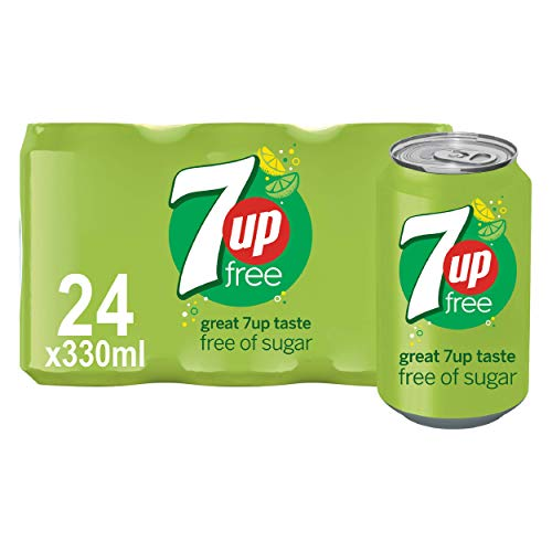 7UP Free - Lemon & Lime Flavoured Fizzy Drink - Sugar-Free - 24 x 330 ml cans