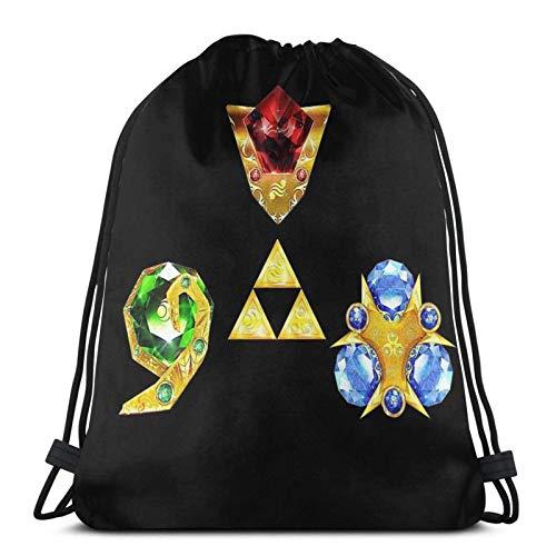 AOOEDM Las piedras espirituales inspiradas en Ocarina Of Time Sport Sackpack Mochila con cordón Bolsa de gimnasio Saco