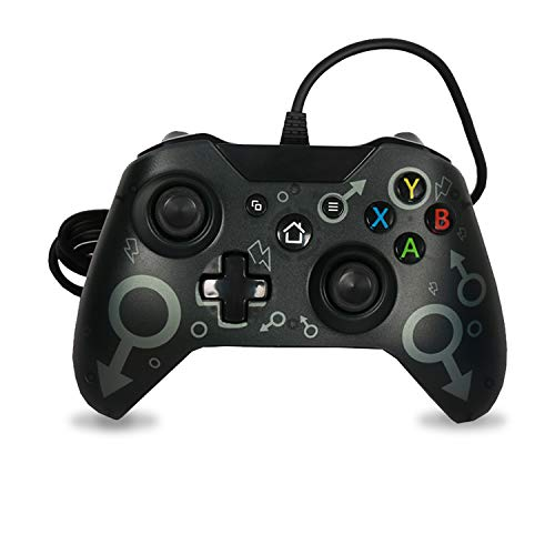 Mando Xbox One para Windows PC 7/8/10 Compatible con Xbox One/Xbox One S/Xbox One X Controlador para Juegos con Cable USB Joystick de Microsoft Gamepad