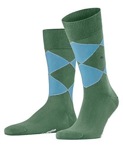 Burlington Herren Socken Organic Argyle, Baumwolle, 1 Paar, Grün (Khaki Green 7746), 40-46 (UK 6.5-11 Ι US 7.5-12)
