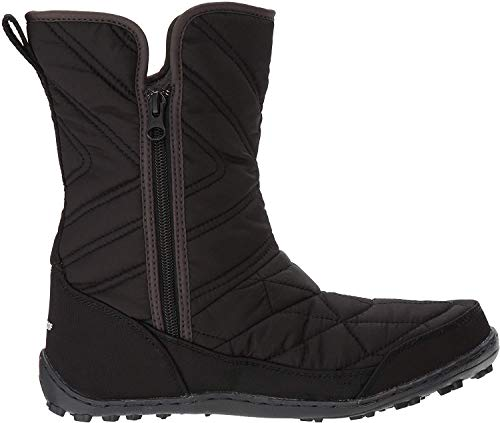 Columbia Girl's Youth Minx Slip III Snow Boot, Black, White, 5 Regular US Big Kid