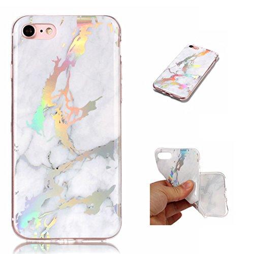Alfort iPhone 7G Cover,Antiurto Ultra Sottile Anti-Graffio Cassa del Telefono per iPhone 7G della Copertura(Bianca)