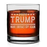 Veracco Trump 2020 Make Liberals Cry Again Whiskey Glass (Clear, Glass)