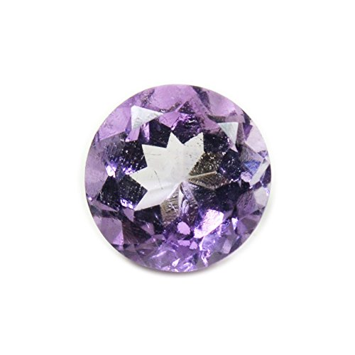 Authentic faceted amethyst Gem loose 6,75 carat round 12 x 12 mm birthstone wholesale
