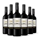 Château Rampeau - AOP Bordeaux - Vin Rouge - Millésime 2018 - Lot de 6 bouteilles x 75 cl