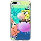 SCLWZD iPhone 7 Plus/iPhone 8 Plus Case- Stylish Cute Spongebob and Patrick PC Slim Shockproof Flexible Back Protective Case for iPhone 7 Plus/iPhone 8 Plus