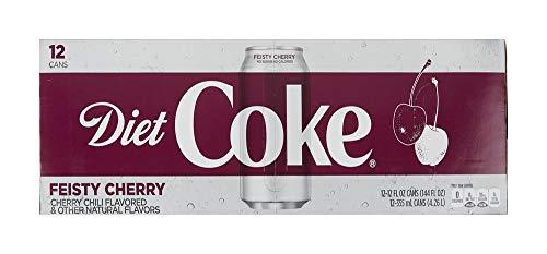Diet Coke Soda, Feisty Cherry, 12 Fl Oz, pack of 12