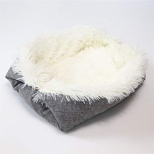 ADDYZ Cojín plegable para mascotas súper suave cuadrado felpa, colchón para cachorro, perro, para tomar alfombra de invierno cálido para dormir cachorro nido almohadilla para dormir