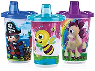 Nuby Wash Or Toss Free Flow Spout Cups with Lids 300 ml, 12 month,10192609