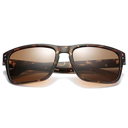 FAGavin Gafas de sol polarizadas de moda para hombre y mujer con las mismas gafas de sol de conducción (color: marrón)