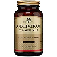 Solgar Aceite de hígado de bacalao Cápsulas blandas - Envase de 250