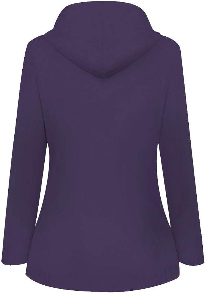 Xinantime Women's Rain Jackets for Women Waterproof Packable Plus Size Outdoor Trench Coat Solid Color Windproof Jacket