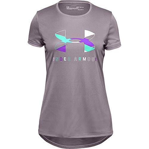 Under Armour T-Shirt fille à Manches Courtes Tech Big Logo