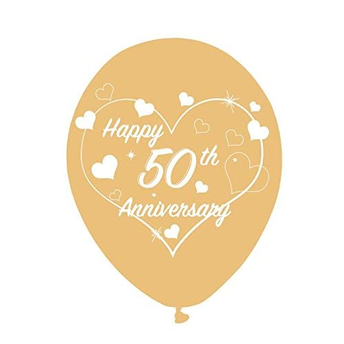 50th GOLDEN ANNIVERSARY PARTY FOIL BALLOON DECORATION 50 YEARS GOLD 45CM