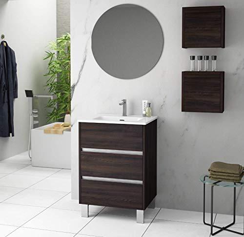 Mueble de Baño a Suelo con Lavabo Cerámico Escorpio | 3 cajones...