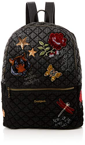 Desigual - Bols_always Milan, Bolsos mochila Mujer, Negro, 13x39.5x31 cm (B x...