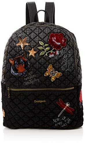 Desigual - Bols_always Milan, Bolsos mochila Mujer, Negro, 13x39.5x31 cm (B x H T)