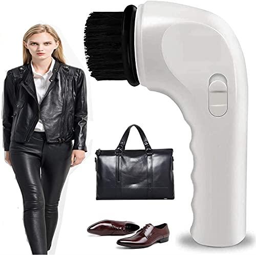 HHORB Limpiabotas eléctrico, Cepillo pulidor de Mano, Limpiador de Zapatos, Limpiador de Polvo, Kit de Cuidado de Cuero inalámbrico portátil para Zapatos, Bolsos, sofá