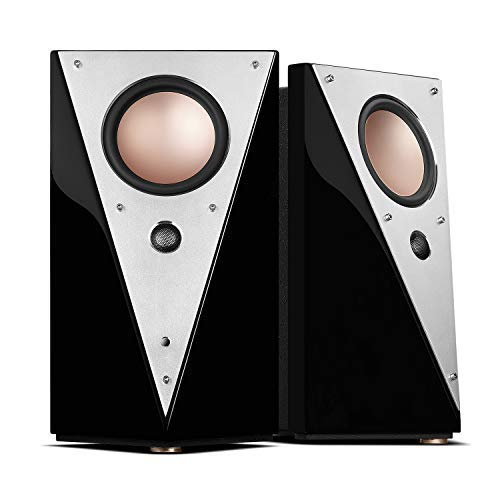 Swan Speakers - T200C - Luxurious 2.0 Powered Bookshelf Speakers - HiFi Speakers - WiFi & Bluetooth - Studio Monitors - Full Metal Front Plate - Long-Throw 5.25'' Mid-Woofer - 70W RMS