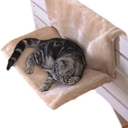QWET Hamaca CáLida para Gatos, FáCil De Limpiar, FáCil De Almacenar Cama para Mascotas con Funda De Felpa ExtraíBle, Adecuada para Perros Y Gatos PequeñOs,18.1 * 11.8 * 9.8in